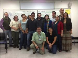 Participantes al primer taller para el desarrollo de un programa de ciencia para los ciudadanos en octubre 2013, Bogotá, Colombia