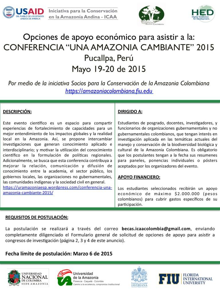 Anuncio Final-Conferencia Una Amazonia Cambiante 2015-1